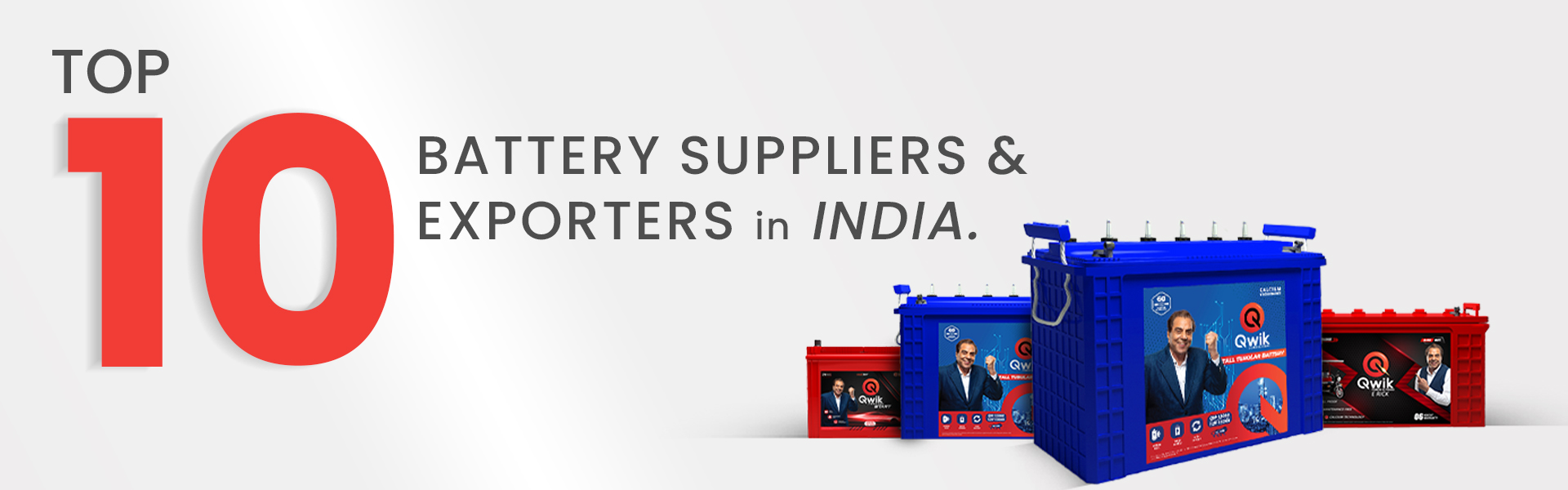 Top 10 battery suppliers & exporters in india