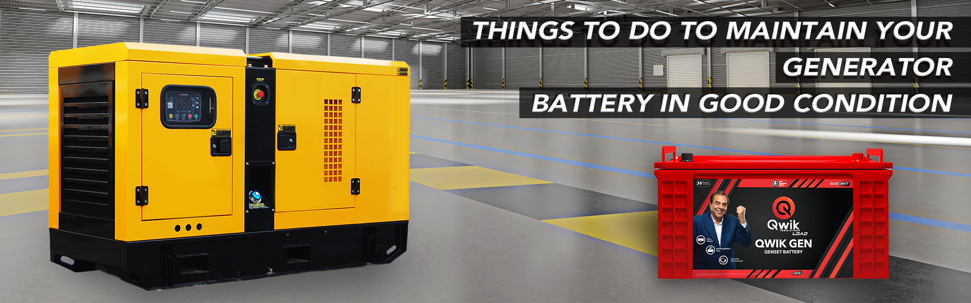 things to do to maintain generator battery