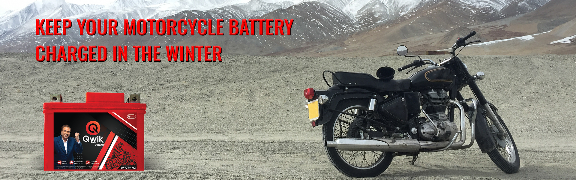 keep your motorcycle battery charged in the winter